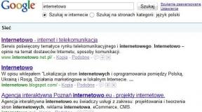 wyniki dla google.com